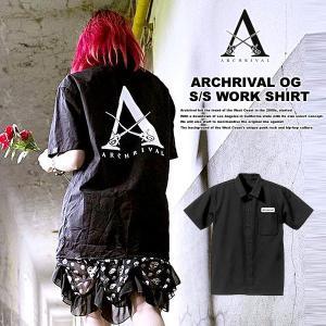 ARCHRIVAL OG S/S WORK SHIRT BLACK|archrival