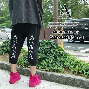 ARCHRIVAL OG SAROUEL PANTS BLACK アーチライバル サルエルパンツ ブラック 黒|archrival
