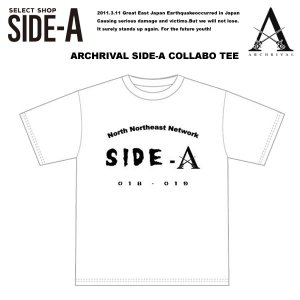 【Side-A】Archrival x SIDE-A COLLABO TEE WHITE アーチライバル x サイドエー コラボTシャツ ホワイト 白 【Archrival】|archrival