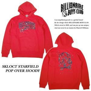 BILLIONAIRE BOYS CLUB SKLOCT STARFIELD POP OVER HOODY RED プルオーバー パーカー レッド 赤|archrival