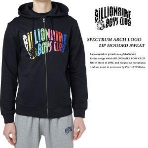 BILLIONAIRE BOYS CLUB SPECTRUM ARCH LOGO ZIP HOODED SWEAT BLACK スペクトル アーチ ロゴ ジップ パーカー ブラック 黒|archrival