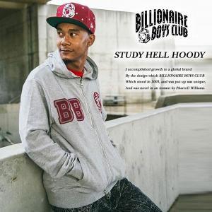 BILLIONAIRE BOYS CLUB STUDY HELL HOODY HEATHER GRAY ステディ ヘル ジップ パーカー ヘザー グレー|archrival