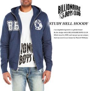 BILLIONAIRE BOYS CLUB STUDY HELL HOODY HEATHER NAVY ステディ ヘル ジップ パーカー ヘザー ネイビー|archrival
