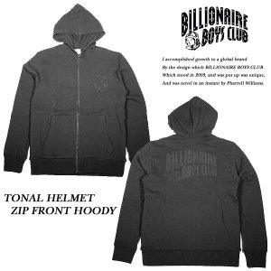 BILLIONAIRE BOYS CLUB TONAL HELMET ZIP FRONT HOODY BLACK トーナル ヘルメット ジップ パーカー ブラック|archrival