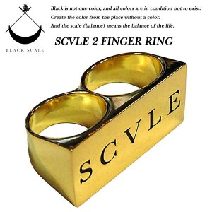 SCVLE 2 FINGER RING GOLD|archrival