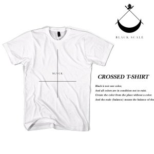 Black Scale CROSSED T-SHIRT WHITE ブラックスケール|archrival