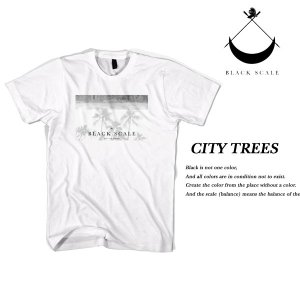 Black Scale CITY TREES T-SHIRT WHITE ブラックスケール|archrival