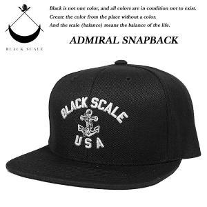 Black Scale ADMIRALI SNAP BACK CAP BLACK ブラックスケール|archrival