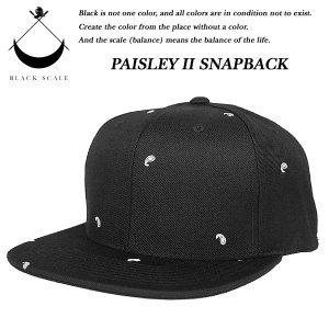 Black Scale PAISLEY II SNAP BACK CAP BLACK ペイズリー ブラックスケール|archrival
