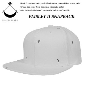 Black Scale PAISLEY II SNAP BACK CAP WHITE ペイズリー ホワイト ブラックスケール|archrival
