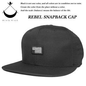 Black Scale REBEL SNAPBACK CAP BLACK ブラックスケール|archrival