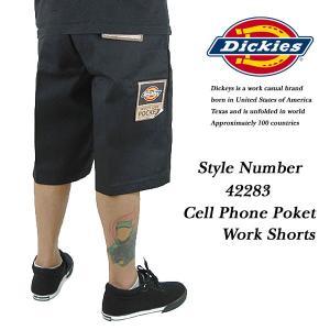 Dickies Cell Phone Poket Work Shorts BLACK セルフォン ポケット付き ワークショーツ BLACK 黒 ディッキーズ archrival