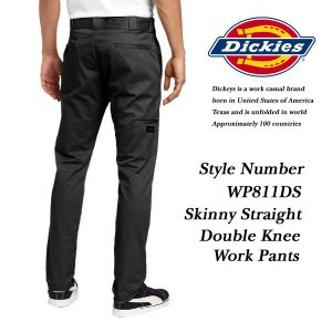 Dickies Skinny Straight Double Knee Work Pants BLACK スキニー ストレート ダブルニー ワークパンツ BLACK 黒 ディッキーズ|archrival