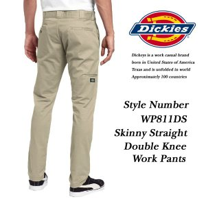 Dickies Skinny Straight Double Knee Work Pants KHAKI スキニー ストレート ダブルニー ワークパンツ カーキ ベージュ ディッキーズ|archrival