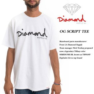 DIAMOND SUPPLY CO OG SCRIPT TEE WHITE ダイヤモンドサプライ|archrival