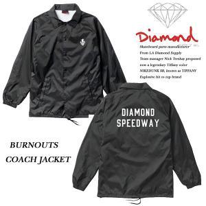 DIAMOND SUPPLY CO BURNOUTS COACH JACKET BLACK ダイヤモンドサプライ|archrival