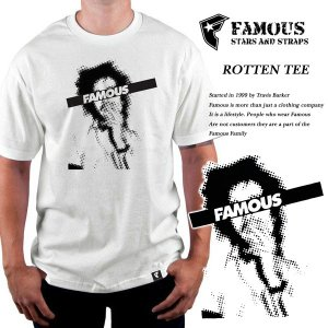 Famous Stars & Straps ROTTEN TEE WHITE ロットン Tシャツ ホワイト 白 フェイマス|archrival