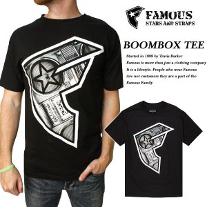 FAMOUS BOOMBOX BOH TEE BLACK|archrival