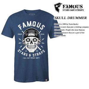 FAMOUS SAS SKULL DRUMMER TEE DENIM|archrival