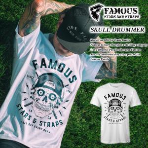 FAMOUS SAS SKULL DRUMMER TEE WHITE|archrival
