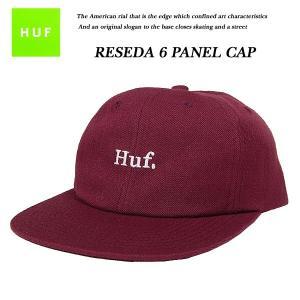 HUF RESEDA 6 PANEL WINE 6 パネル キャップ ワイン バーガンディ ハフ|archrival