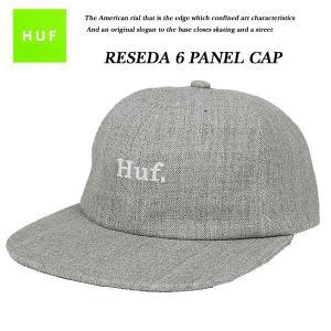 HUF RESEDA 6 PANEL HEATHER GREY 6 パネル キャップ ヘザーグレー 杢灰 ハフ|archrival