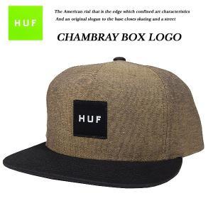 HUF CHAMBRAY BOX LOGO SNAP BACK CAP MUSTARD  シャンブレー ボックス ロゴ スナップバック キャップ マスタード ハフ|archrival
