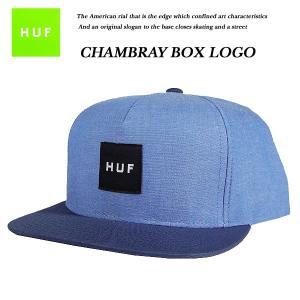 CHAMBRAY BOX LOGO SNAP BACK CAP NAVY|archrival