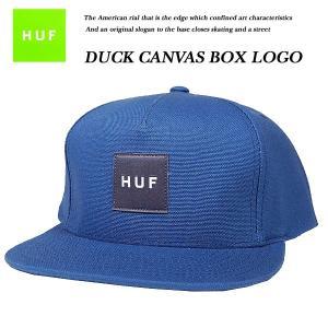 HUF DUCK CANVAS BOX LOGO SNAP BACK CAP DENIM  ダック キャンバス ボックス ロゴ スナップバック キャップ デニム ハフ|archrival