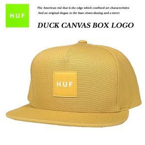 HUF DUCK CANVAS BOX LOGO SNAP BACK CAP HONEY  ダック キャンバス ボックス ロゴ スナップバック キャップ ハニー ハフ|archrival