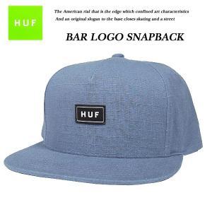 HUF BAR LOGO SNAP BACK CAP NAVY バー ロゴ スナップバック キャップ ネイビー 紺 ハフ|archrival