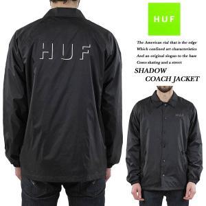 HUF SHADOW COACH JACKET BLACK シャドウ コーチ ジャケット ブラック 黒 ハフ archrival