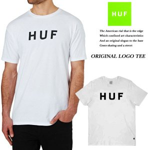HUF ORIGINAL LOGO TEE WHITE|archrival