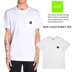 HUF BOX LOGO POKET TEE WHITE|archrival