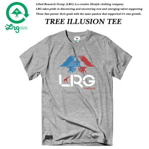LRG TREE ILLUSION TEE ASH HEATHER エルアールジー|archrival