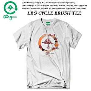 LRG CYCLE BRUSH TEE WHITE エルアールジー|archrival