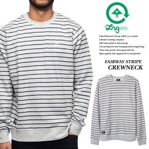 FAIRWAY STRIPE CREWNECK ASH|archrival