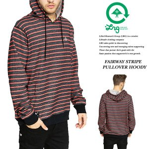 FAIRWAY STRIPE PULLOVER HOODY BLACK|archrival