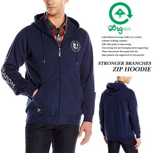 STRONGER BRANCHES ZIP HOODIE NAVY|archrival