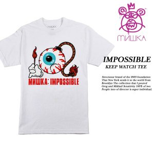MISHKA IMPOSSIBLE KEEP WATCH TEE WHITE|archrival