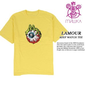 LAMOUR KEEP WATCH TEE YELLOW|archrival