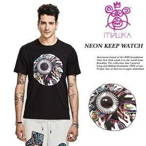 NEON KEEP WATCH TEE BLACK archrival