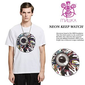 NEON KEEP WATCH TEE WHITE|archrival