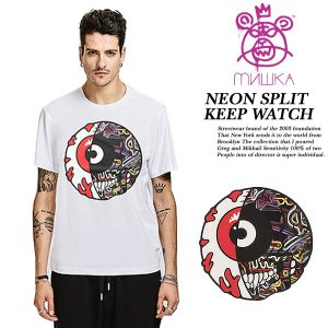 NEON SPLIT KEEP WATCH TEE WHITE|archrival