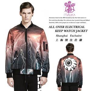 Mishka ALL OVER ELECTRICAL KEEP WATCH JACKET 上海別注モデル エレクトリカル キープウォッチ ジャケット ミシカ archrival