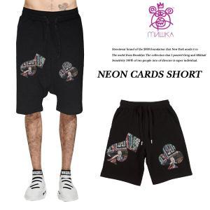 MISHKA NEON CARDS SHORT archrival
