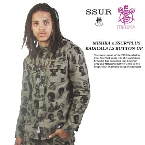 Mishka MISHKA x SSUR*PLUS RADICALS LS BUTTON UP SHIRT コラボ 長袖シャツ ミシカ|archrival