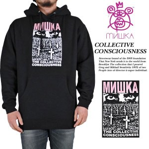 Mishka COLLECTIVE CONSCIOUSNESS PULLOVER HOOD BLACK ミシカ archrival