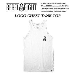REBEL8 LOGO CHEST TANK TOP WHITE|archrival
