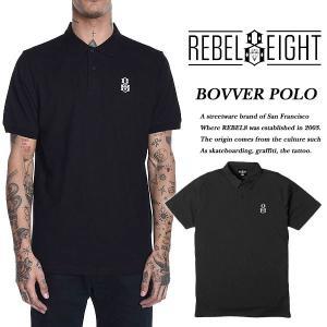 REBEL8 BOVVER POLO BLACK 半袖ポロシャツ レベルエイト|archrival